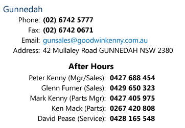 Goodwin Kenny Gunnedah Contact Details