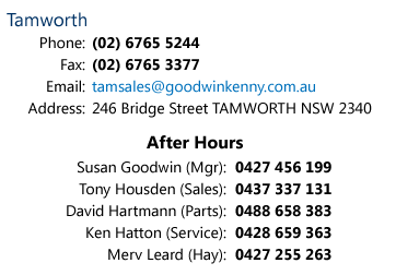 Goodwin Kenny Tamworth Contact Details