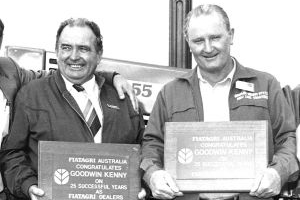 Aub Goodwin and Pat Kenny in 1987<br />
