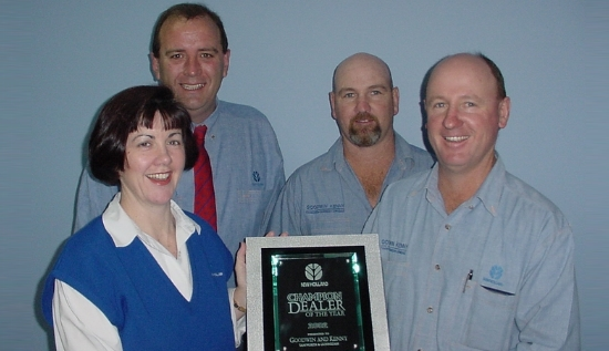 New Holland Champion Dealer of the Year 2002 - Peter and Susan Goodwin, Mark and Peter Kenny